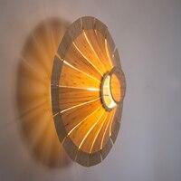 Willlustr bamboo дерева, настенный светильник бра НЛО Освещение зонтик света двери фойе крыльцо Лофт отель nordic пастырской