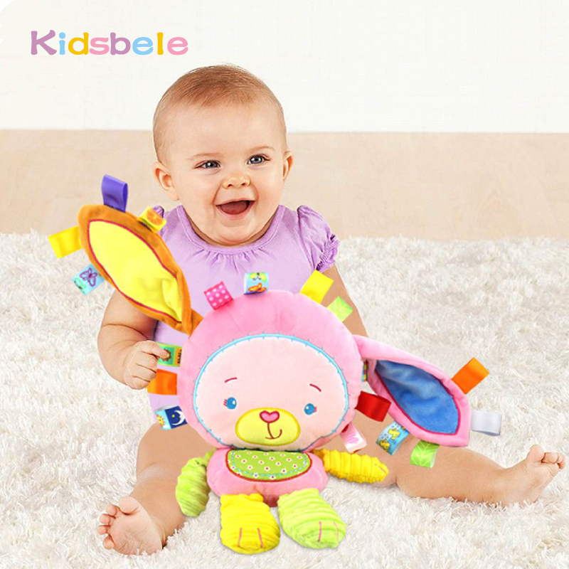 Baby Appease Toys Ring Bell Squeaky Sound Educational Toys Soft Plush Rattles Mobiles Toys For Girls Christmas Gift free shipping plush baby toys appease infants teddy appease towel grasping rattles bb multi functional brinquedos para bebe