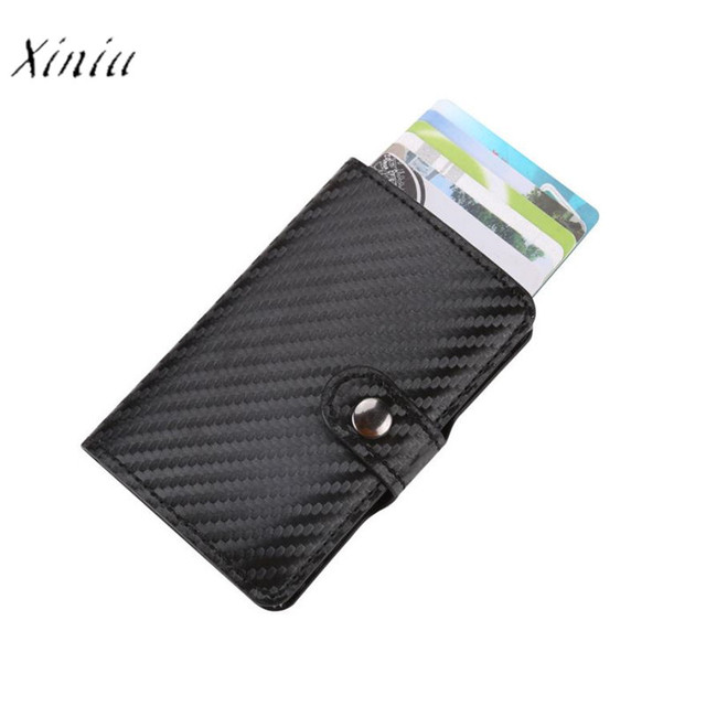 Leather Card Holder Women Men ID Credit Card Protector Leather - Porte carte credit