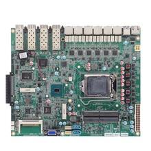 Мини ПК материнская плата с 6-го/7-го i3-i5-i7/Pentium/Celeron cpu H110/H170 чипсет 2* DDR4 ram слот RJ45 6* LAN 4* POE 4* USB