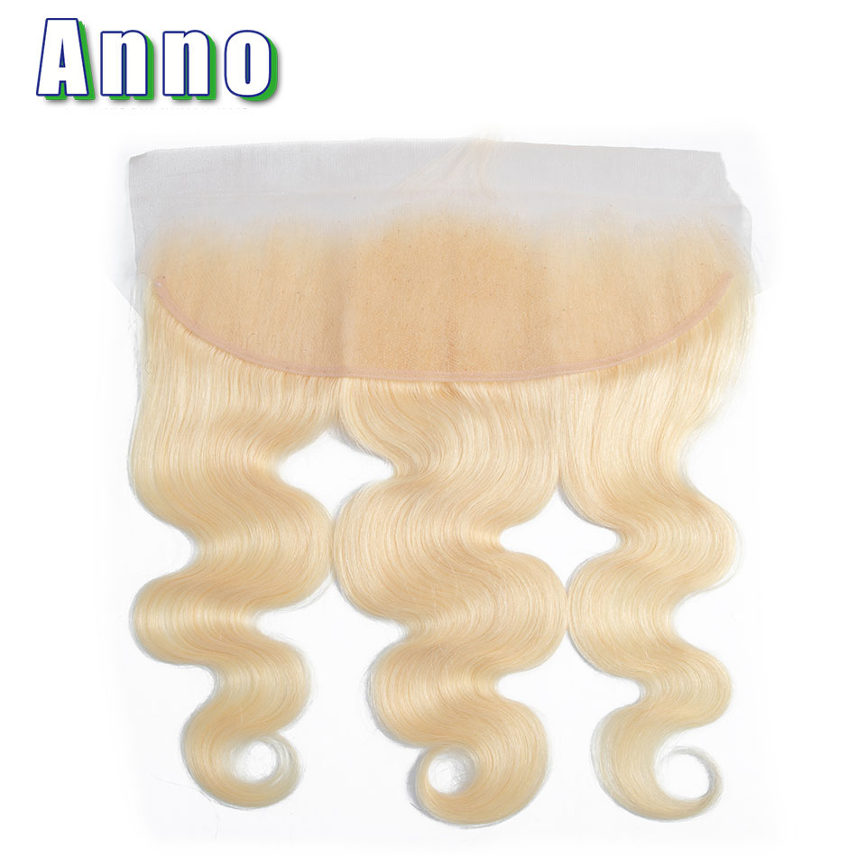 Annowig 613 Lace Frontal Closure Malaysia Human Hair Body Wave Frontal Non Remy Hair Honey Blonde