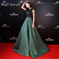 Green Long Red Carpet Celebrity Dress 2018 Floor Length Prom Dress
