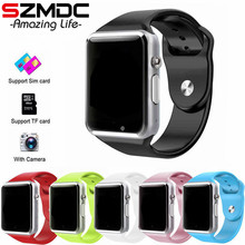 SZMDC A1 Smart Watch With Passometer Camera SIM Card Call Smartwatch For Xiaomi Huawei HTC Android
