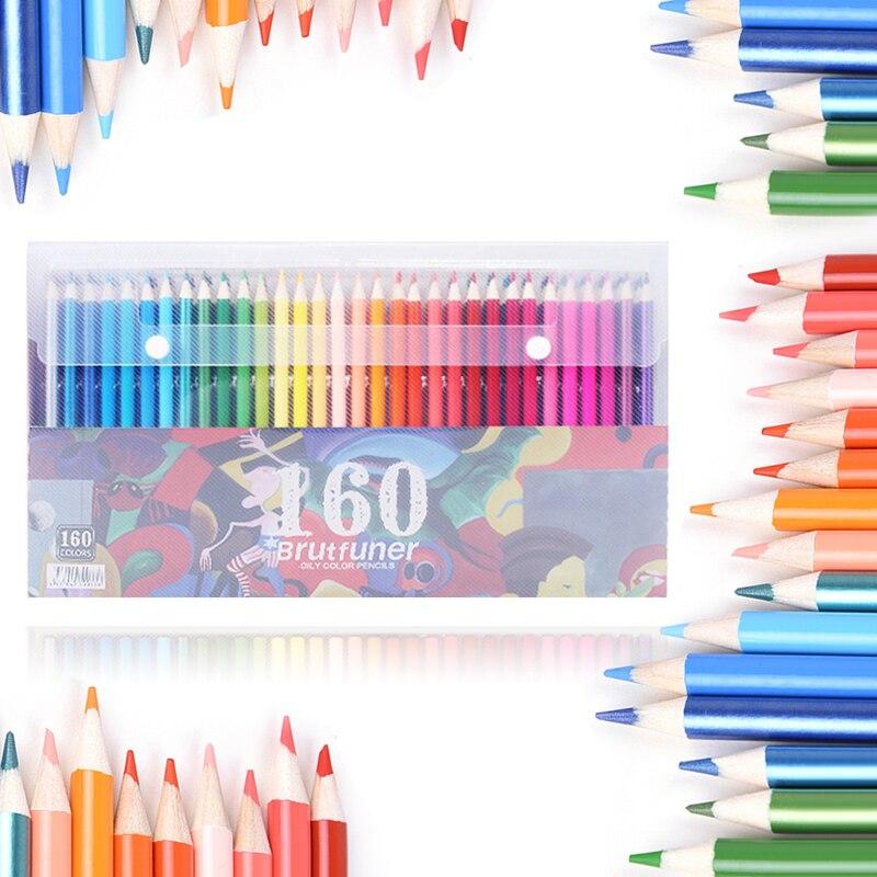 160 สีไม้ดินสอสีชุด Lapis De Cor ศิลปินภาพวาดน้ำมันดินสอสีสำหรับวาดโรงเรียน Sketch Art Supplies บน