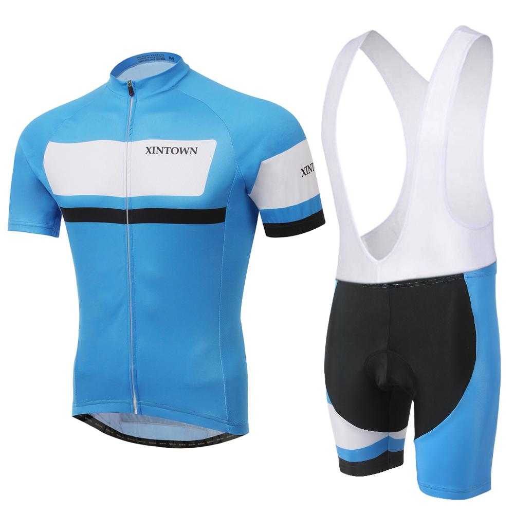 28bc34cf5 Men ropa ciclismo hombre New Arrival Bike Clothes Short Sleeve Sublimation  Sky Blue Color Cycling Jersey Cycling Bib Shorts Set-in Cycling Jerseys  from ...