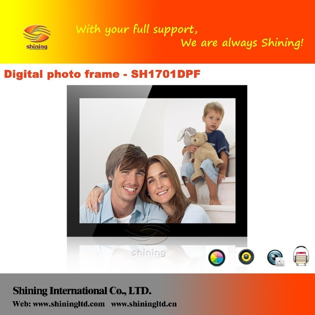 17 inch battery operated digital photo frame with LED backlight-in ...