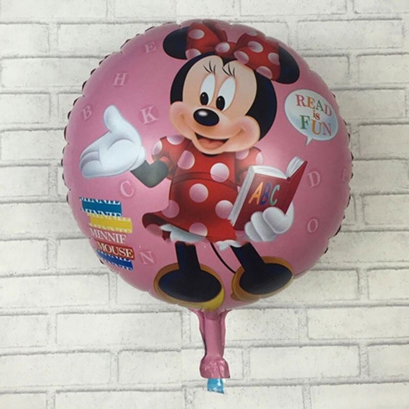 5pcs / lots Free shipping 18-inch Mickey Minnie graduation aluminum balloons birthday party decoration balloon childrens toys