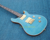New releases China OEM electric guitar guitar blue tiger stripes the guitar EMS free shipping