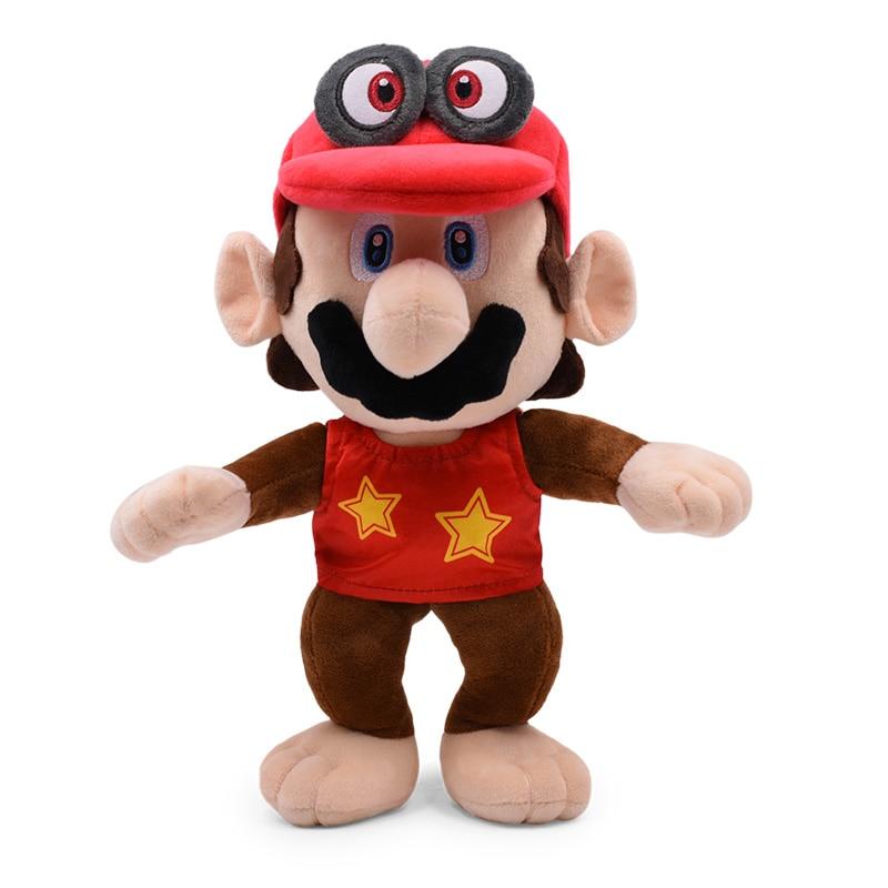 12inch 30CM Super Mario Bros Red Odyssey Cosplay Monkey Donkey Diddy Kong Plush Toys Stuffed Dolls Kids Toys Free Shipping 1