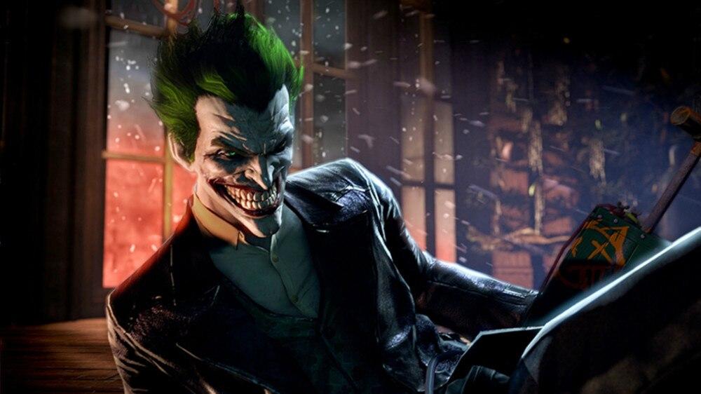 Stiker Dinding Kartun Pengiriman Gratis Kustom Batman VS Joker Foto Klasik Wallpaper Bergaya Kanvas Poster PN