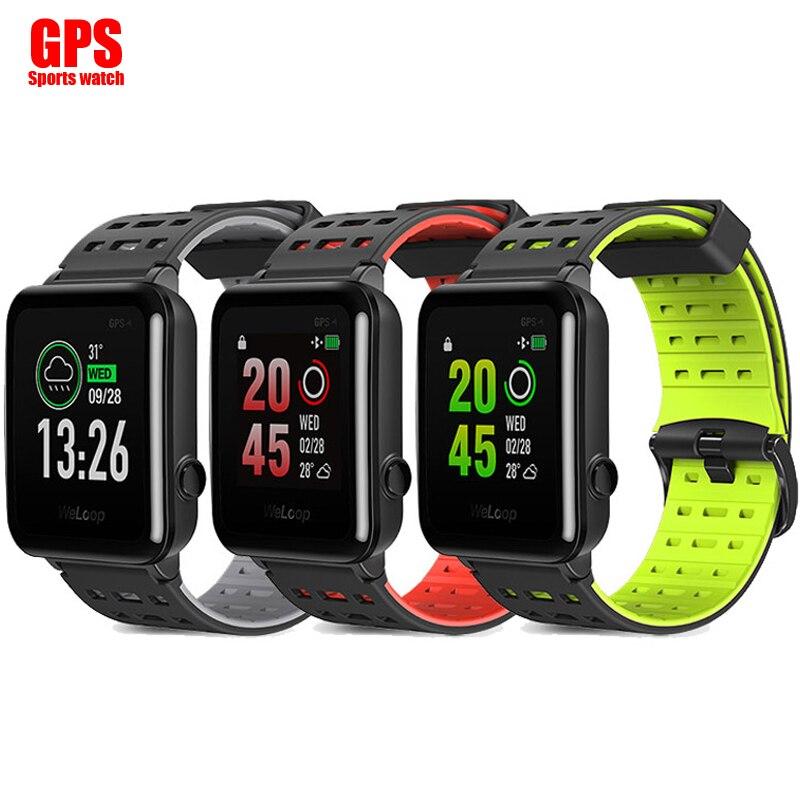 New English WeLoop Hey 3S Smartwatch Multi Sports Smart Watch GPS+ AGPS 50M Waterproof Bluetooth Heart Rate Monitor Message Push smart baby watch q60s детские часы с gps голубые