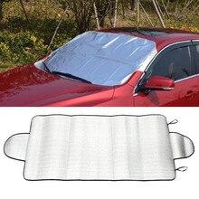 Автомобильные солнцезащитные шторы для машины Снежный лед протектор козырек Солнцезащитный козырек Fornt задний лобовое стекло легкий вес крышка блок щитки 150x70 см# T15