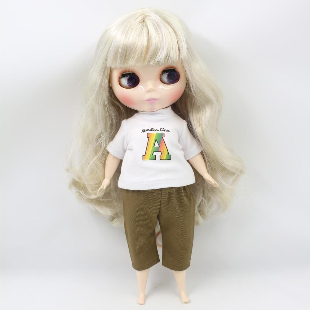 Neo Blythe Doll Blonde Hair Fat Body 4