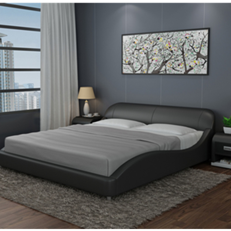 Cheap Simple Beautiful Bedroom Furniture Modern Soft Leather Bed