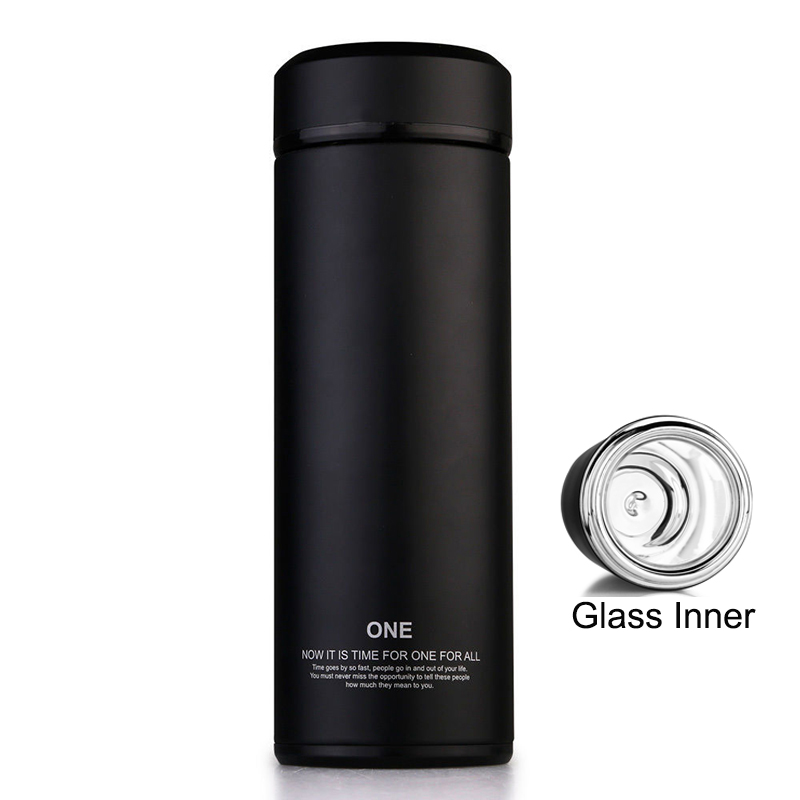 ONEISALL Glass Inside Vacuum Flasks Mini 320ml Thermoses Offce Cup Glass Thermos Vacuum Flaks Glass Inner Thermal Bottle