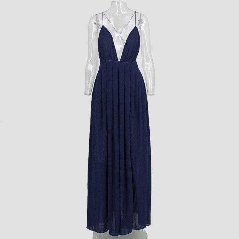 6025e9fc11 Feditch nowa moda 4 kolor głębokie V szyi sukienka w dużym rozmiarze kobiety  seksowne wieczorowe sukienki bez pleców na przyjęcie Nighrtclub nosić  Vestidos ...
