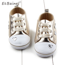 Love Heart Print Toddler Baby Shoes Crib Shoes