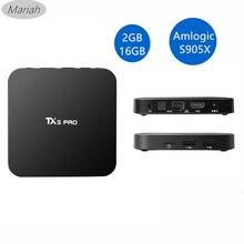 TX5 PROทีวีกล่องS905X 2กิกะไบต์16กิกะไบต์Android 6.0สมาร์ททีวีกล่องQuad Coreอย่างเต็มที่KODI 16.1 Media Player 2.4กรัม+ 5.8กรัมWIFI +บลูทูธ4.0