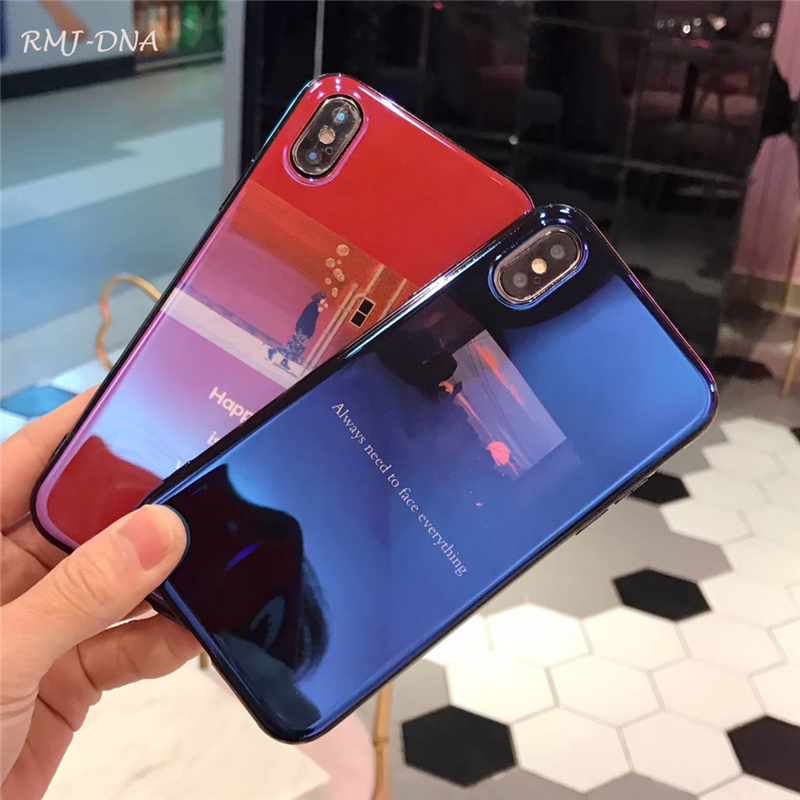 RMJ-DNA Luxury For iPhone X Case Character illustration For iphone 7 7Plus 8 8plus 6 6S 6 Plus Silicone Fashion Blu-Ray TPU Cove