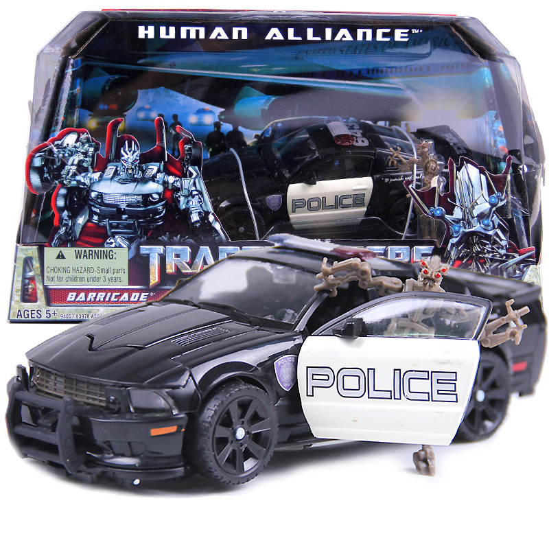 цена на Transformation Human Alliance Car Robot Barricade Christmas Gift for Boys