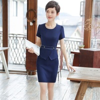 New Styles Elegant Summer Dresses Slim Hips Dress For Women Ladies Office Work Wear Career Dress Clothes Plus Size 4XL