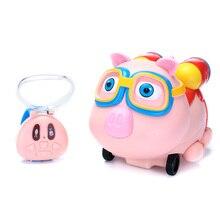 Новейшая Маленькая свинья, детские часы, пульт дистанционного управления, автомобильная игрушка с компьютерным управлением, мультяшная 2,4 г, инфракрасная, следящая за умной индукцией, брызгающая игрушка, автомобиль