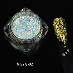 Image 4 - 1g/Box 2017 New Arrival Irregular White Color Chameleon Flakes Color Changing Mica Pigment For Nail Paint, 5colors