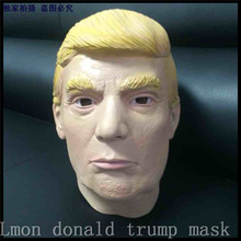 Hot Selling Adults Size Fun Famous USA Celebrity Funny Man Mask Props Donald Trump Overhead Latex Masks in stock Free Shipping