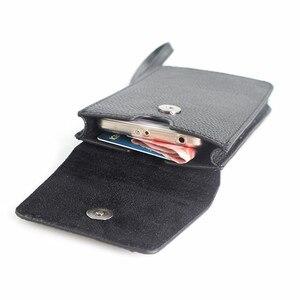 Image 2 - Кожаный чехол из натуральной воловьей кожи с ремнем для сотового телефона 5,0/5,5/6,3/6,4/7 дюймов, кожаный чехол для iphone, карман для хранения денег и карт