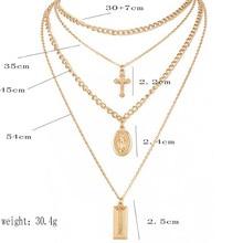 FREE SHIPPING !! Cross 4 Layer Pendant Necklaces Bohemian Jewelery Goddess Choker Necklace JKP1024