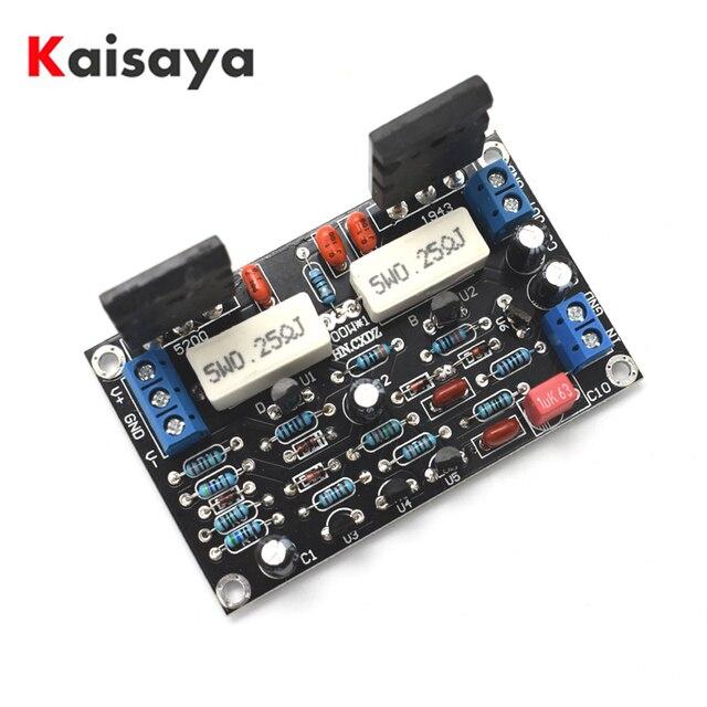 Nuevo tubo de amplificador de potencia 2SC5200 + 2SA1943, placa de amplificador de Audio HIFI monocanal, 100W, CC, 35V, C1 001