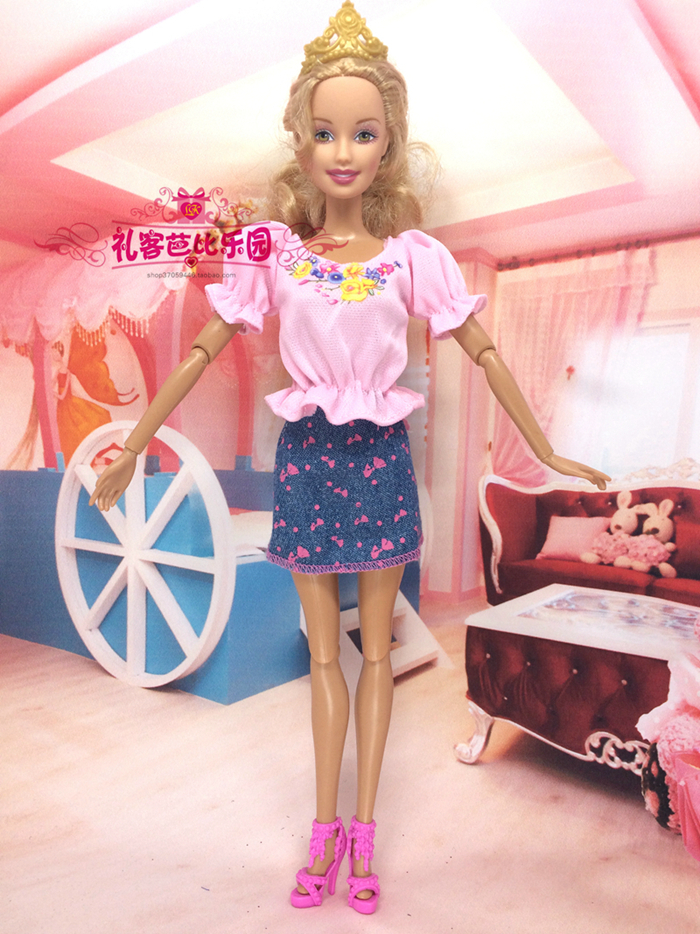 2016 Latest Greatest Little one Women toys Doll Outfit Lovely Handmade Social gathering ClothesTop Style Costume For Barbie Doll