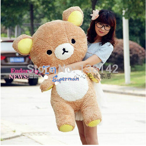 100cm San-x Rilakkuma Relax Bear Cute Soft Pillow Plush toys stuffed animal soft bear baby dolls best gift hot sale cute dolls 60cm oblong animals pillow panda stuffed nanoparticle elephant plush toys rabbit cushion birthday gift
