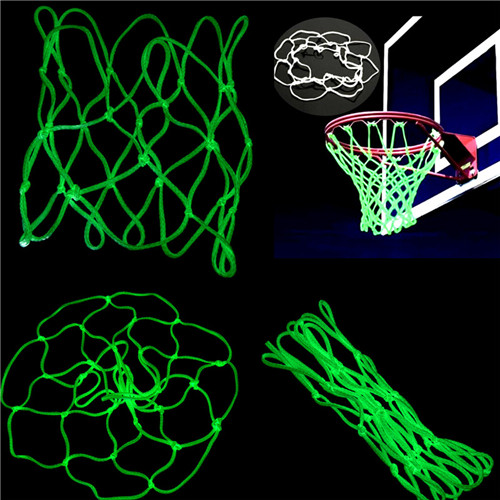 Glowing Light Shooting Training Green Luminous Basketball Net Backboard Ball Mesh Nylon Standard Basketball Hoop Net