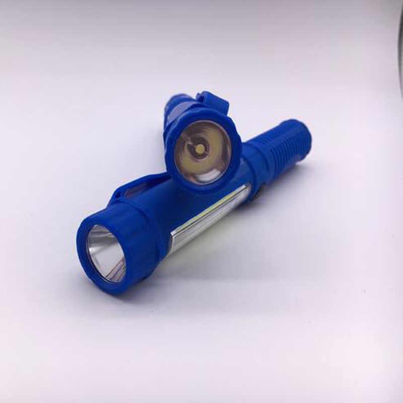 Multifonction COB LED Mini stylo lumière travail Inspection lampe torche lampe avec l'aimant inférieur et l'agrafe noir/rouge/bleu