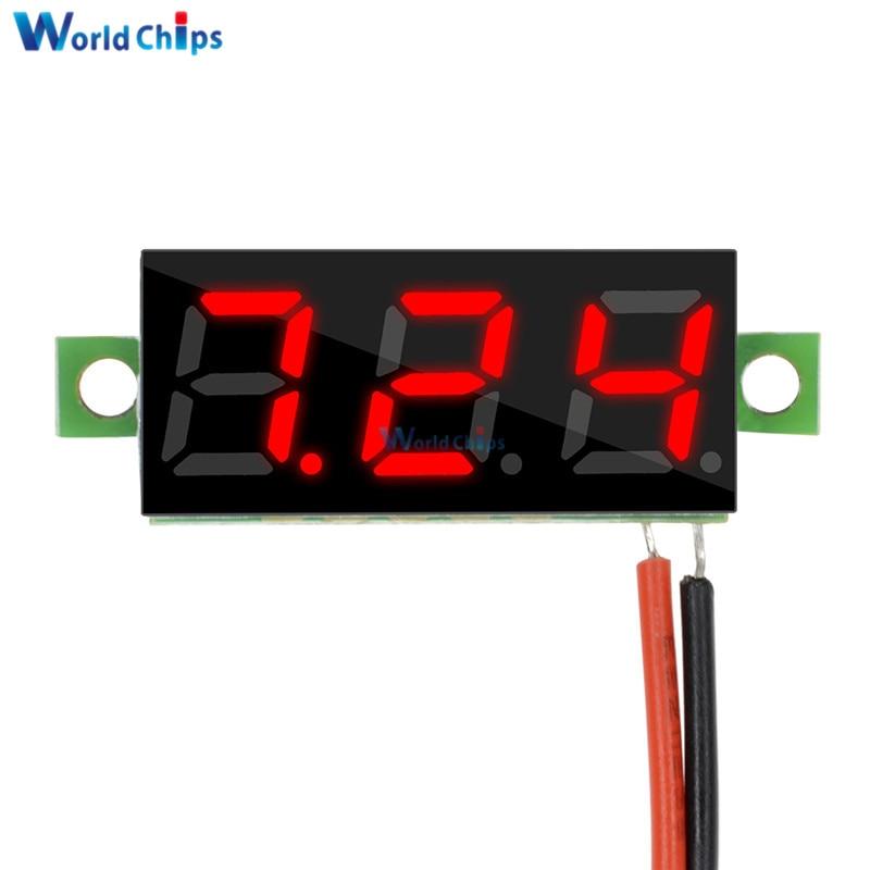 0.28 Inch 2.5V-30V Mini Digital Voltmeter Voltage Tester Meter Red LED Screen Electronic Parts Accessories Digital Voltmeter