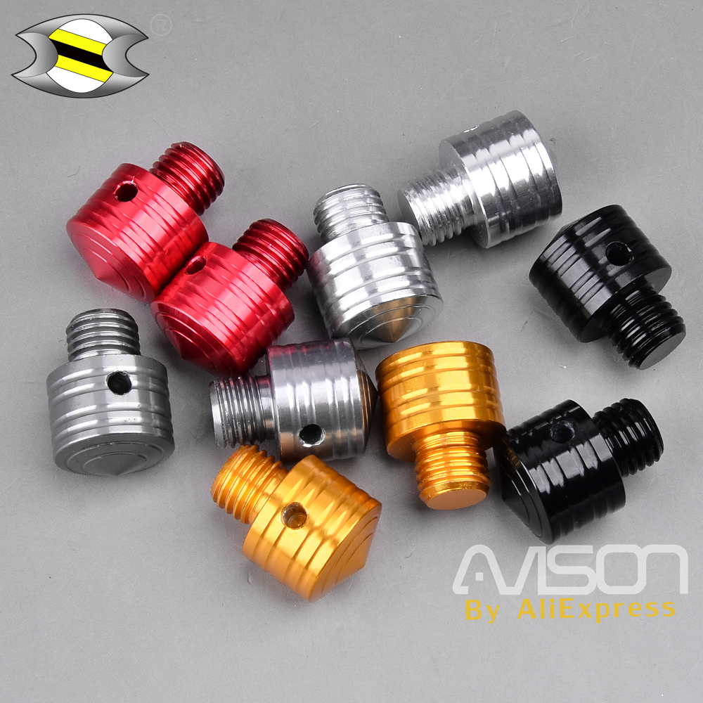 2Pcs Universal Motorcycle Mirror Adapters Side Mirror Bolts Screws for Yamaha NMAX 125 <font><b>150</b></font> 155 2015-2018 image