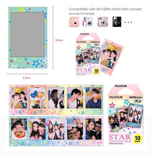 Image 5 - For Fujifilm Instax Mini 8 9 Camera Film Sheets Pack   30 Exposures Instant Mini Photos    Rainbow , Shiny Star , Stripe Frame