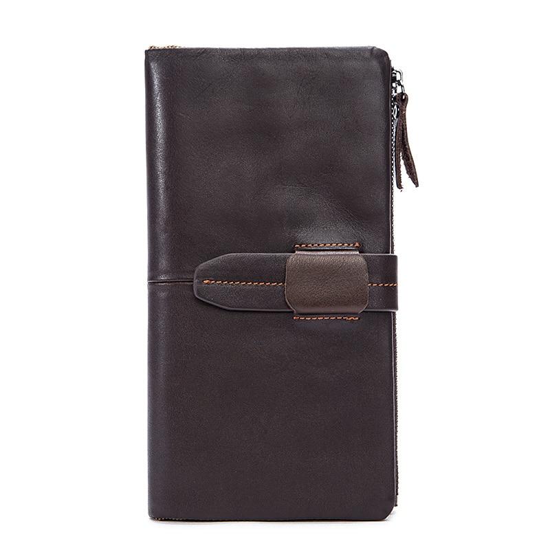 Card Wallet Coin-Purse Practical Zipper Vintage-Style Designer Brand Hot Space Long Men