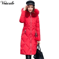 Winter Jacket Women 2017 New Large Fur Collar Hooded Parka Thick Coat For Women Outwear Slim