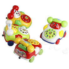 2016 Baby Develop Intelligence Education Toys Gift Kids Cartoon Pull Line Phone