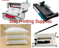 Perfect book binding machines kits 4 in 1 combo + Perfect book binder + stack paper cutter + paper trimmer + binding glue