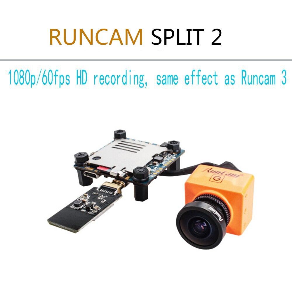 RunCam Split 2 FPV WiFi Camera 2 Megapixels 1080P/60fps HD recording plus WDR NTSC/PAL Switchable for Racing Drone Quadcopter
