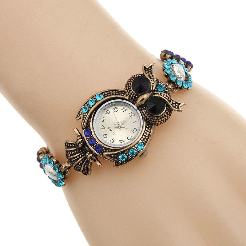2017 titan Owl Quartz Watches Luxury Brand Fashion Women Bracelet ...