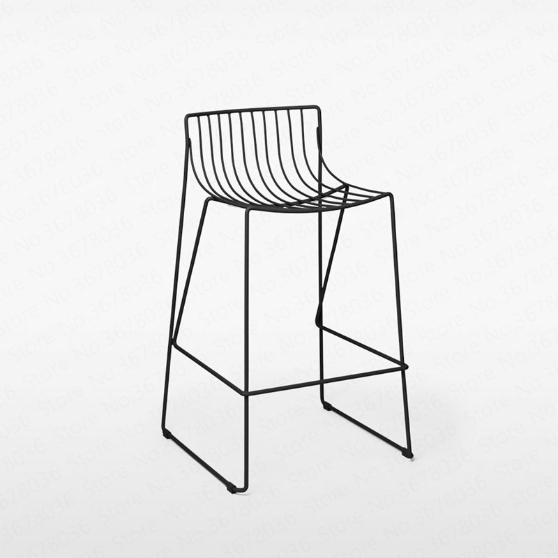 Iron Bar Chair Bar Stool High Chair Minimalist Restaurant Bar Cafe Outdoor Bar Stool Can Be Stacked Industrial Wind