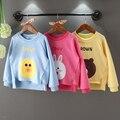 Ropa muchacha de los niños camiseta nova niños niñas de algodón del o-cuello camisetas impresas cartoo animales camisetas de manga en primavera/otoño