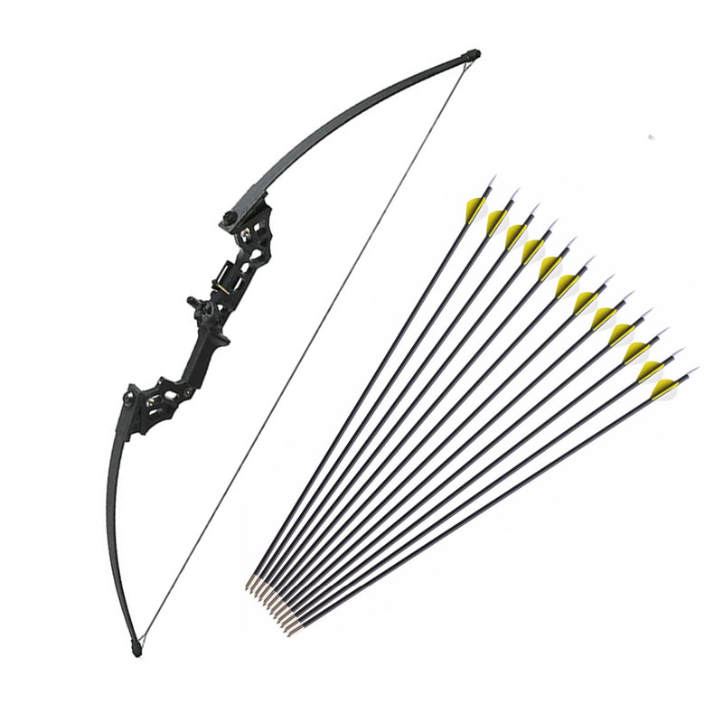 40 lbs Archery Recurve Bow Outdoor Shooting Hunting Bow With Accessories 12 pcs Archery Arrows Blind