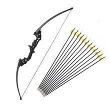 40 £ Bogenschießen Recurve Bogen Outdoor Schießen Jagd Bogen Mit Zubehör 12 stücke Bogenschießen Pfeile Blind Baum Stehen