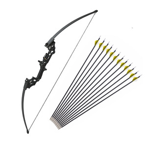 Image 1 - 40 lbs Archery Recurve Bow Outdoor Shooting Hunting Bow With Accessories 12 pcs Archery Arrows Blind  Tree Stand