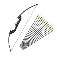 40 lbs Archery Recurve Bow Outdoor Shooting Hunting Bow With Accessories 12 pcs Archery Arrows Blind Tree Stand